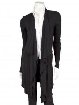 Kasack Strickjacke, schwarz von Pronto Moda von Pronto Moda