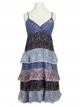 Kleid, blau multicolor