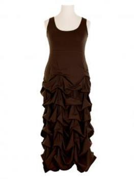 Jerseykleid Raffung, braun (Bild 1)