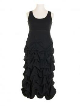 Jerseykleid Raffung, schwarz