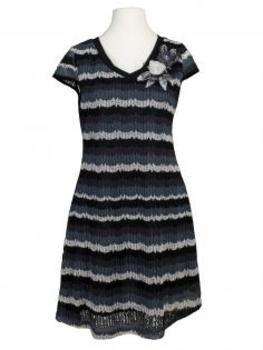 Kleid Ajourstrick, schwarz grau (Bild 1)