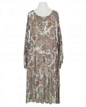 Kleid A-Linie mit Seide, beige (Bild 1)