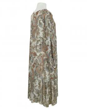Kleid A-Linie mit Seide, beige (Bild 2)