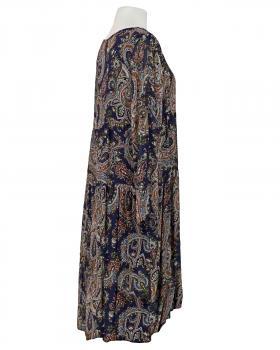 Kleid A-Linie mit Seide, blau (Bild 2)