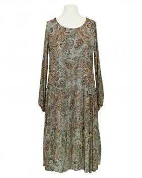 Kleid A-Linie mit Seide, grau von Diana