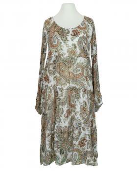 Kleid A-Linie mit Seide, weiss (Bild 1)