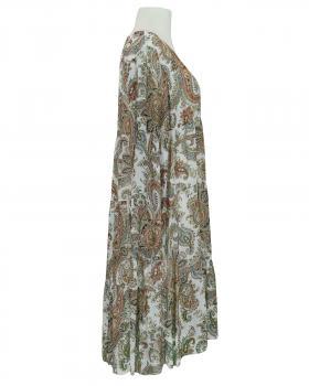 Kleid A-Linie mit Seide, weiss (Bild 2)