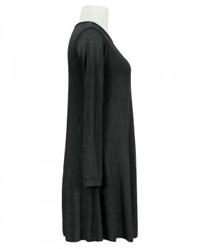 Kleid A-Linie mit Viskose, schwarz