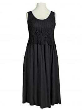 Kleid Ajourstrick, schwarz