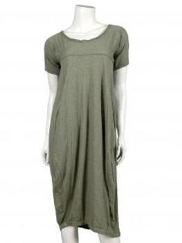 Kleid Baumwolle, khaki von Spaziodonna