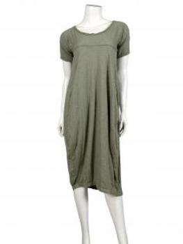 Kleid Baumwolle, khaki (Bild 2)