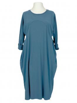 Kleid Baumwolljersey, jeansblau