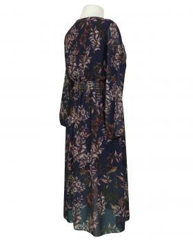 Kleid Crêpe Chiffon, schwarz (Bild 2)