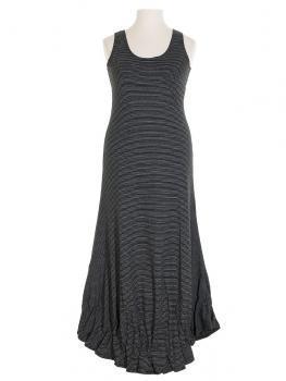 Jerseykleid lang, schwarz weiss (Bild 1)