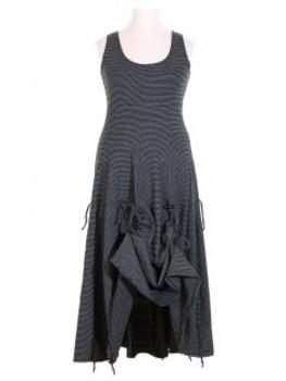 Jerseykleid A-Form, schwarz weiss