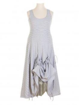 Jerseykleid A-Form, weiss schwarz (Bild 1)