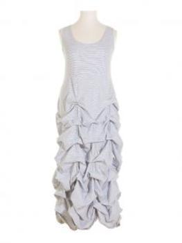 Jerseykleid Raffung, weiss (Bild 1)