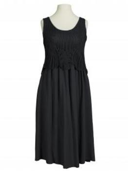 Kleid mit Ajourstrick, schwarz