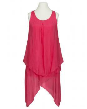 Kleid Lagenlook mit Seide, koralle