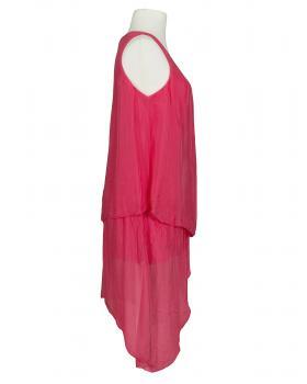 Kleid Lagenlook mit Seide, lachs