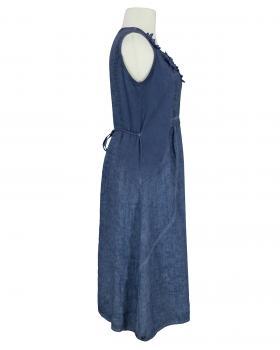 Kleid mit Blüten, blau (Bild 2)