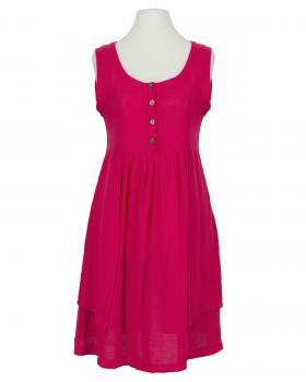 Kleid mit Leinen, fuchsia