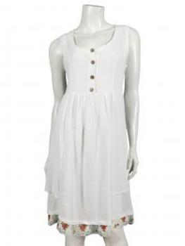 Kleid mit Leinen, weiss von Diana