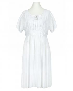 Kleid mit Lochstickerei, weiss von  von