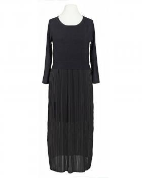 Kleid mit Plissee, schwarz von Made in Italy