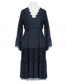 Kleid mit Seide, blau von