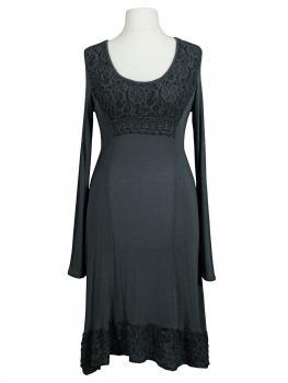 Kleid mit Spitze, grau (Bild 1)