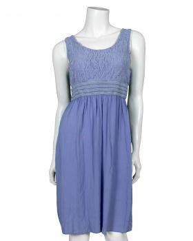Kleid mit Spitze, blau