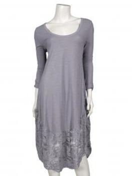 Kleid mit Spitze, grau von Diana (Bild 1)