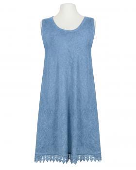 Kleid mit Spitze, jeansblau von Spaziodonna von Spaziodonna
