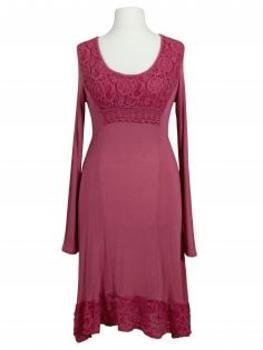 Kleid mit Spitze, pink von les frères