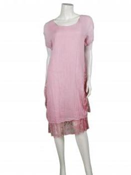 Kleid mit Spitze, rosa