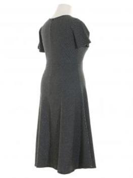 Kleid Streifen, schwarz