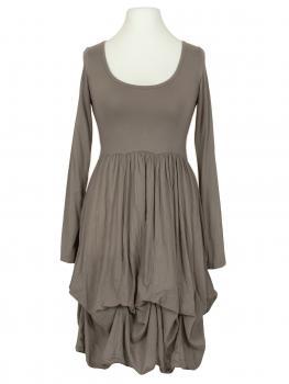 Kleid mit Volant, schlamm