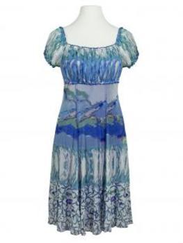 Kleid Print, aqua (Bild 1)