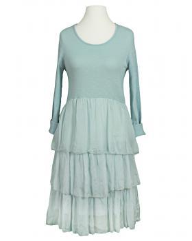Kleid Seidenvolant, hellblau