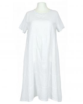Kleid Stickerei A-Linie, weiss