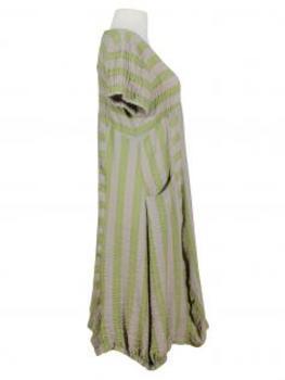 Kleid Streifen A-Schnitt, kiwi