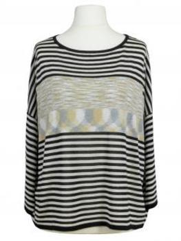 Pullover Streifen, schwarz grau