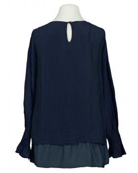 Lagenlook Bluse mit Seide, dunkelblau (Bild 2)