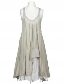 Lagenlook Kleid 2-tlg., taupe