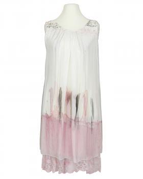 Lagenlook Kleid mit Seide, weiss