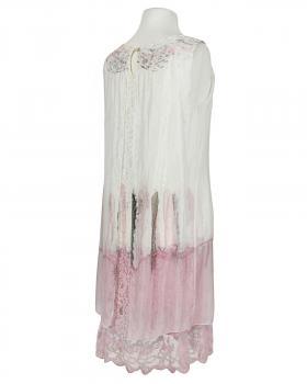 Lagenlook Kleid mit Seide, weiss (Bild 2)