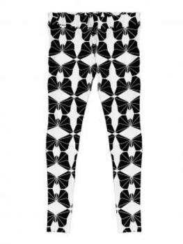 Leggings mit Muster, schwarz weiss