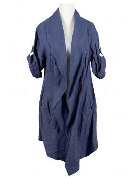 Leinen Jacke, blau von Spaziodonna