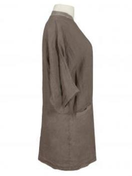 Damen Leinen Jacke, schlamm